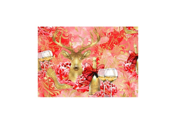 """A4 LovedbyGaby scrapbook papers """"New Years eve"""""""