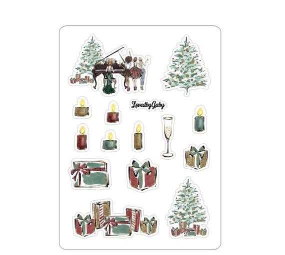 "LovedbyGaby stickers ""A christmas carol / music"""