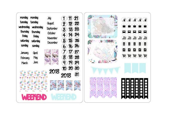 A5 deco date stickers for the classic inserts 4