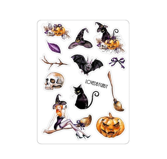 LovedbyGaby stickers Halloween witch