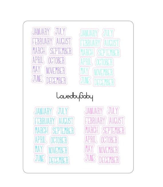 LovedbyGaby stickers weeks/months