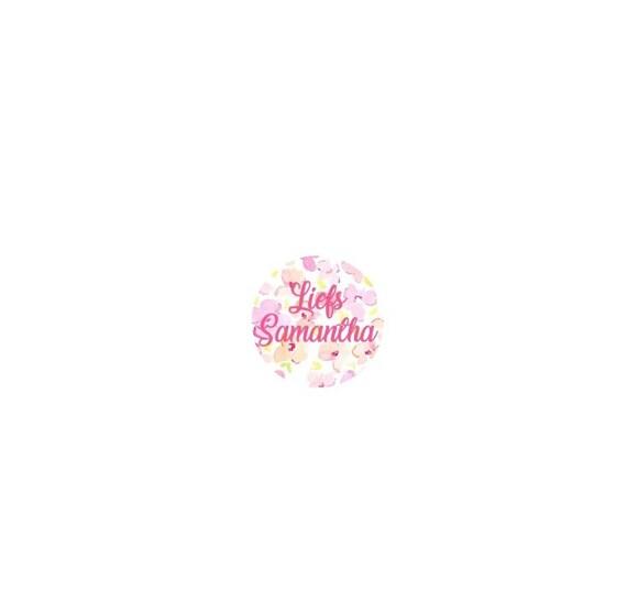 LovedbyGaby custom round closes sticker set