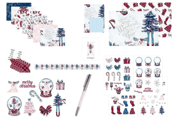 """LovedbyGaby plannerkit """"cosy christmas"""""""