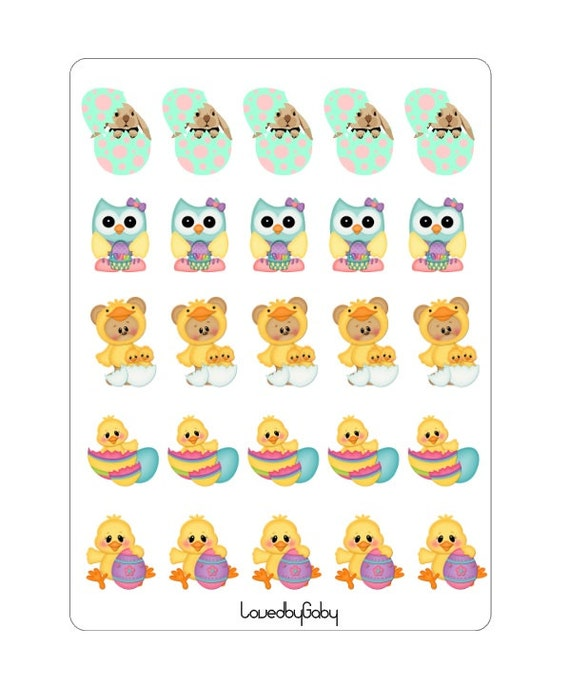 LovedbyGaby Easter stickers