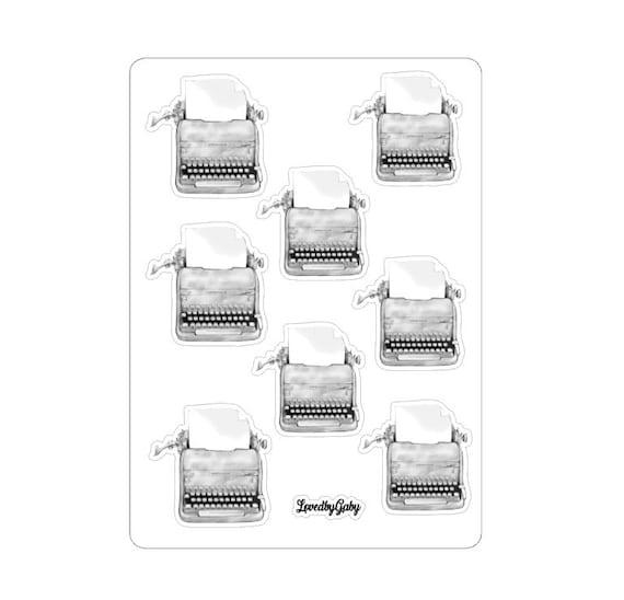"LovedbyGaby stickers ""Typewriters black/white"""