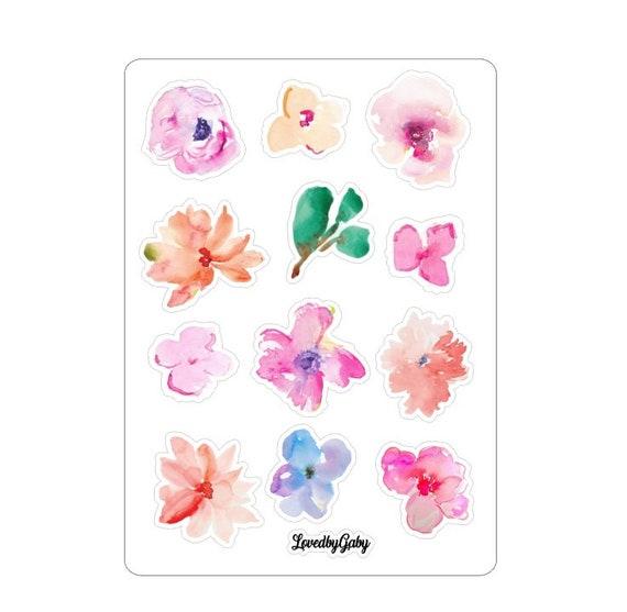 "LovedbyGaby stickers ""watercolor flowers"""