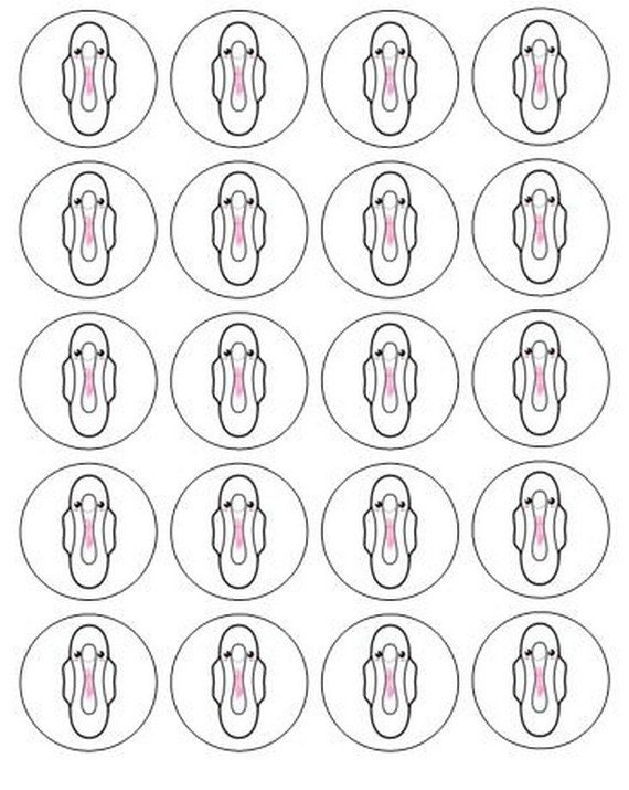 117 menstrual/ period women stickers