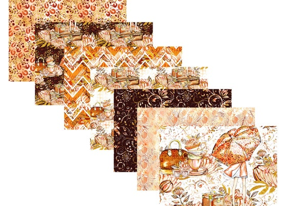 "A4 LovedbyGaby scrapbook papers ""cosy fall"""