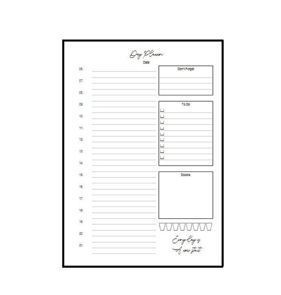 A5 Notepad Dayplanner