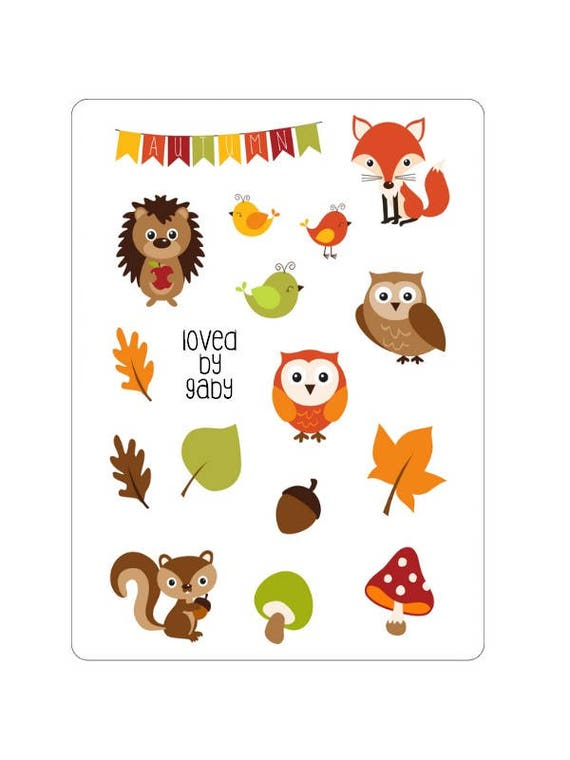 "LovedbyGaby stickers ""forest animals"""