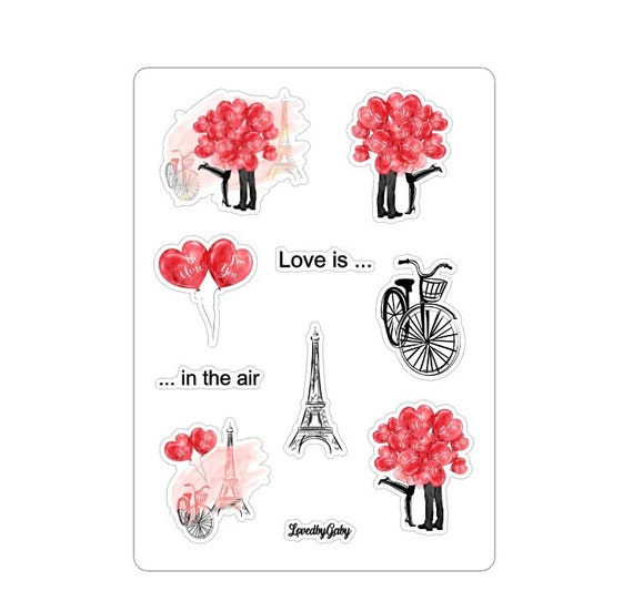 """LovedbyGaby stickers """"Love is in the air"""""""