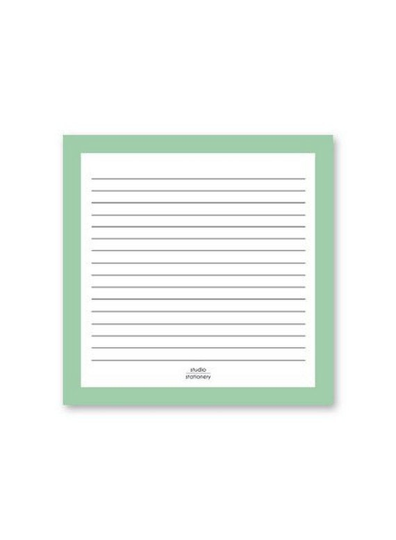 Studio Stationary Notepad Square Mint
