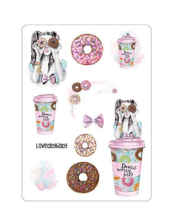 "LovedbyGaby stickers ""donuts"""