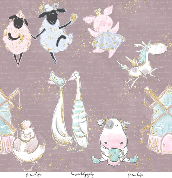 "LovedbyGaby scrapbook papers ""Farmlife"""
