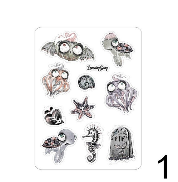 """LovedbyGaby stickers """"Halloween mermaids"""""""