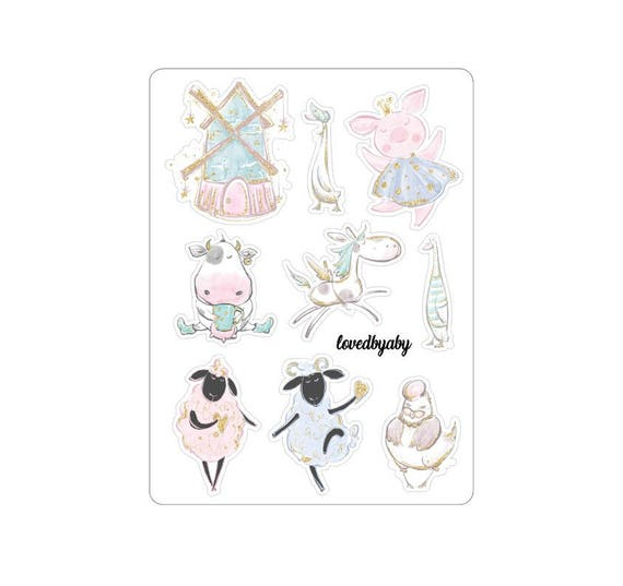 "LovedbyGaby stickers ""Farm life"""