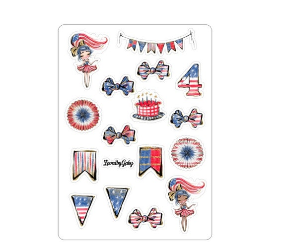 """LovedbyGaby stickers """"4th of July"""""""