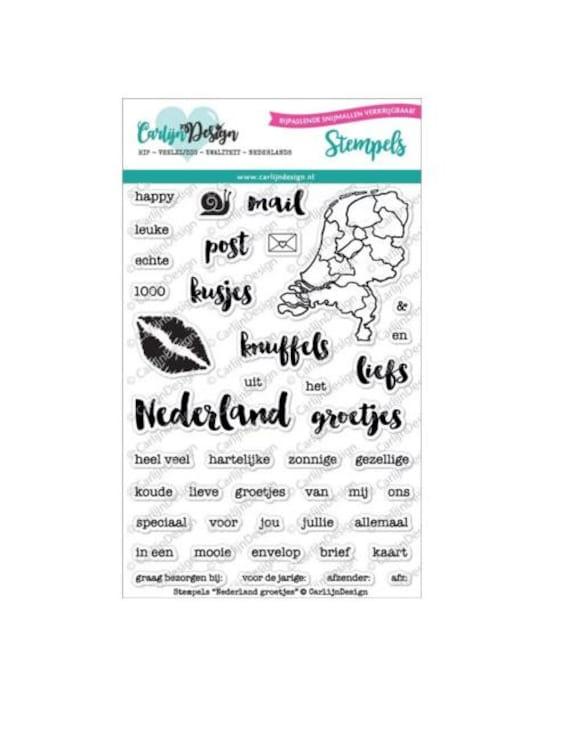 "Carlijn design stempel ""Nederland"""