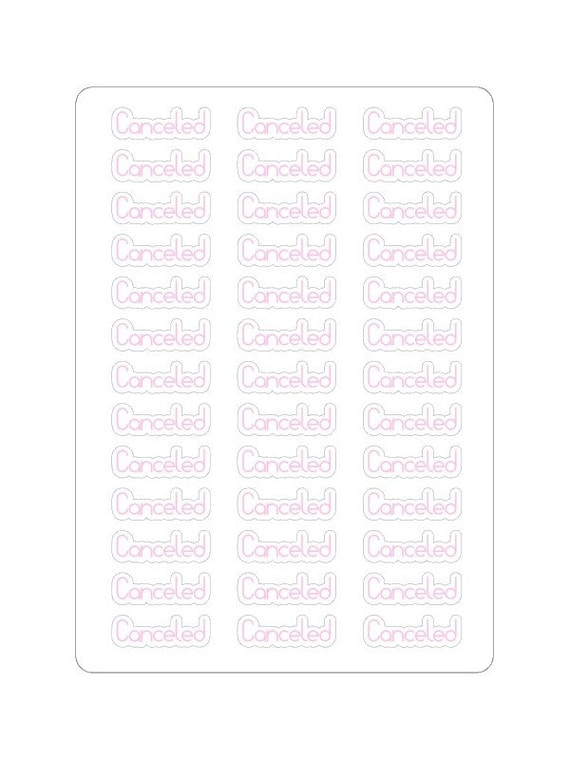 """LovedbyGaby stickers bujo """"cancelled"""""""