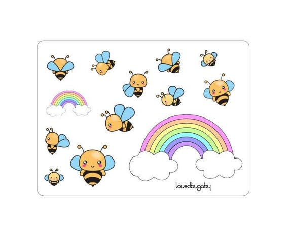 "LovedbyGaby stickers ""Bees"""