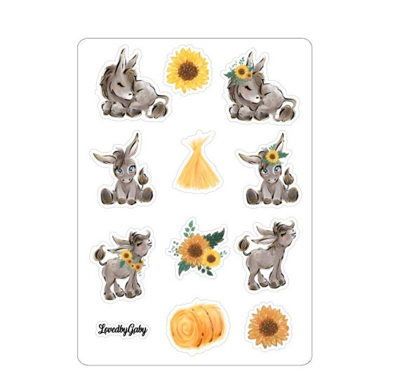 "LovedbyGaby stickers ""Donkey"""