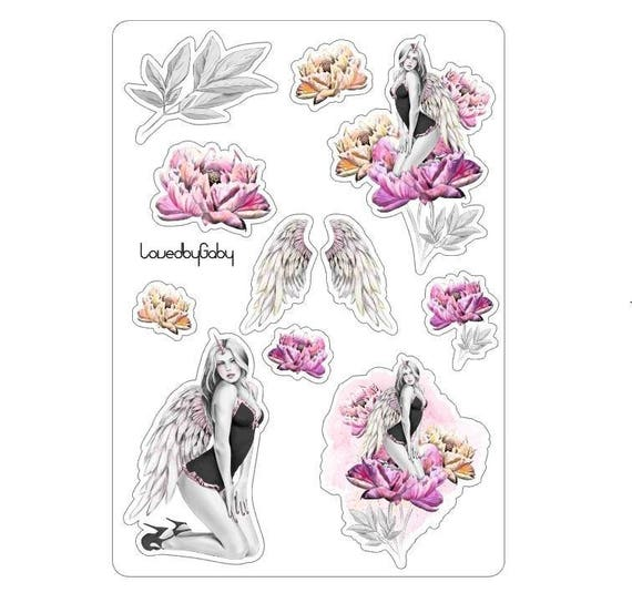 LovedbyGaby stickers unicorngirl