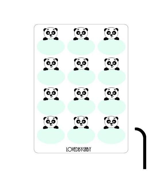 Panda, owl or deer stickers