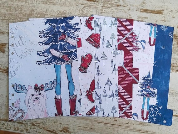 """LovedbyGaby A5 dividers """"cosy christmas"""""""