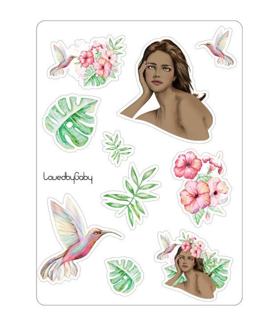 """LovedbyGaby stickers 'tropical"""""""