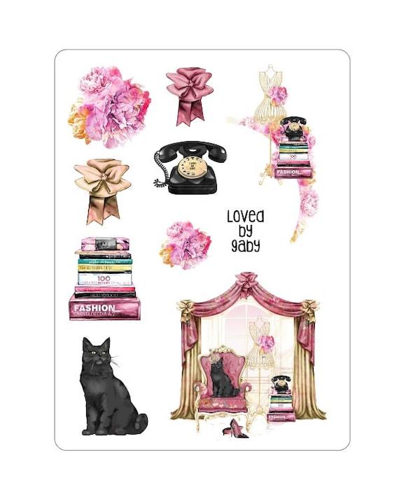 "LovedbyGaby stickers ""black cat 1"""