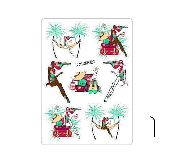 """LovedbyGaby stickers """"tropical"""""""