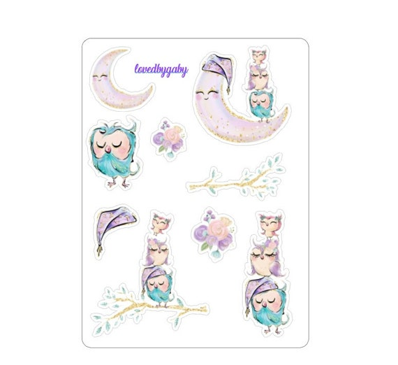 "LovedbyGaby stickers ""pastel owl"""