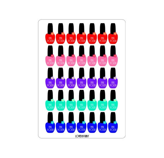"LovedbyGaby stickers ""Nailpolish"""