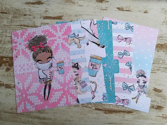"LovedbyGaby A5 dividers ""Wintergirls"""