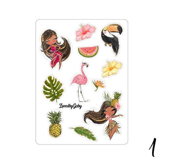 "Lovedbygaby stickers ""tropical Hawai"""