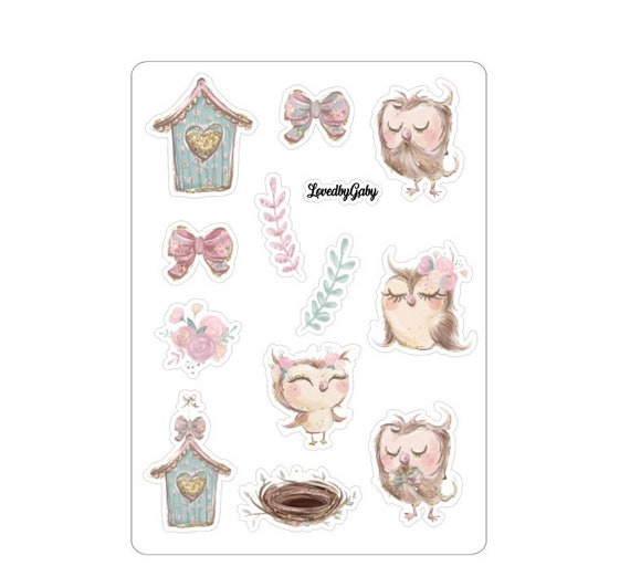 "LovedbyGaby stickers ""owls"""