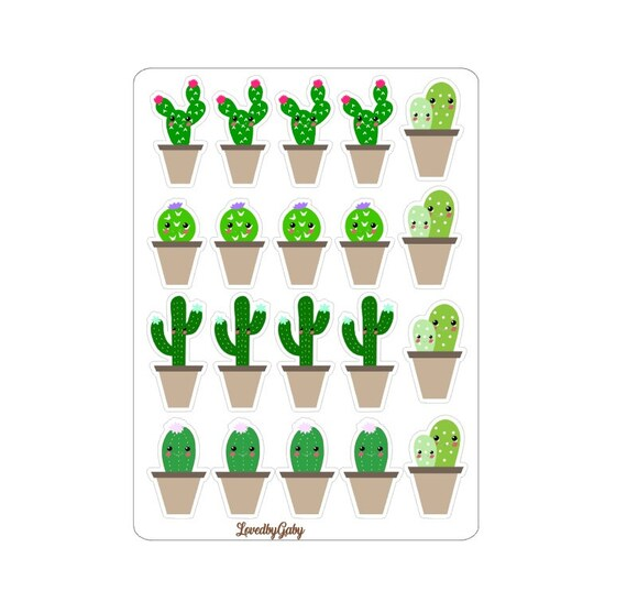 """LovedbyGaby stickers """"Cactus"""""""