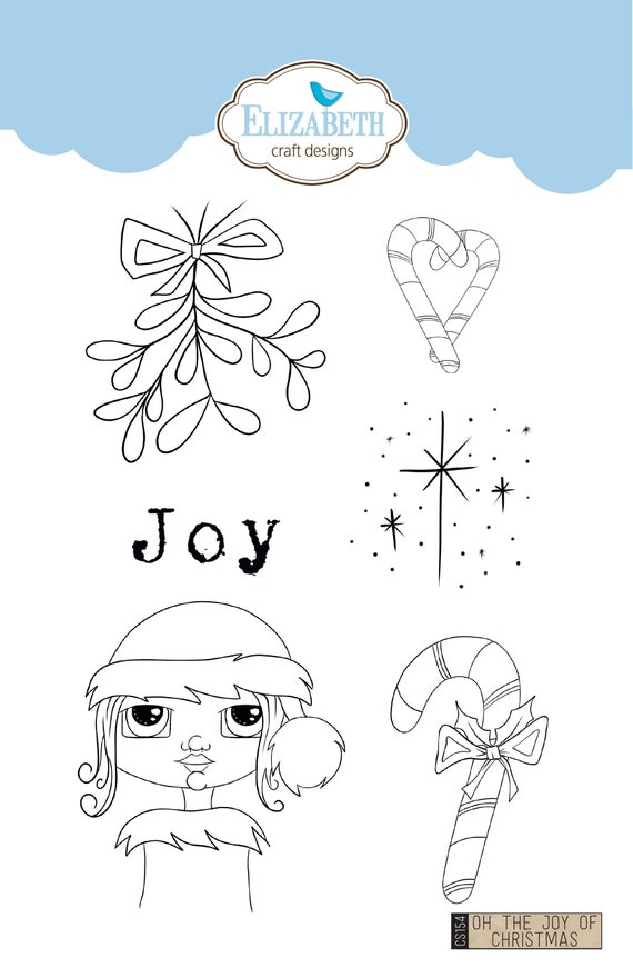 """Elizabeth craft designs stamps """"Oh the joy of christmas"""""""