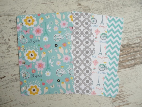 "A7 pocket dividers set ""Bonjour"""
