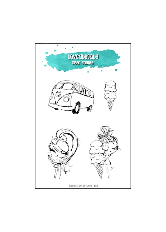 "LovedbyGaby clear stamps ""Summerday"""