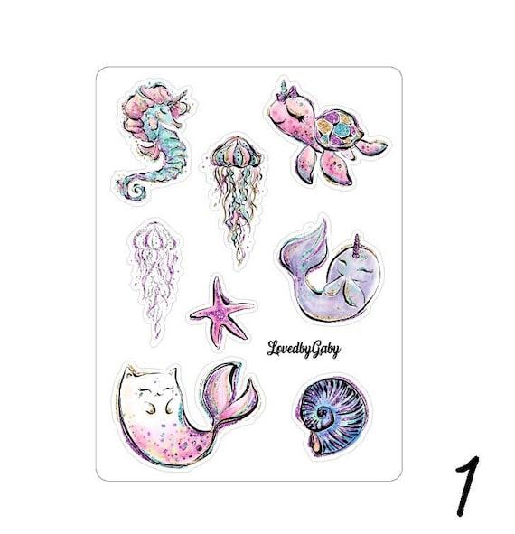 LovedbyGaby stickers baby mermaids