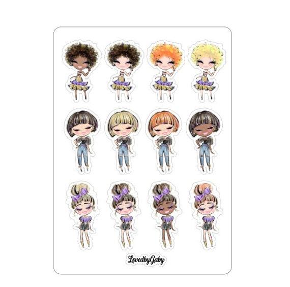 "LovedbyGaby stickers ""Dolls"""