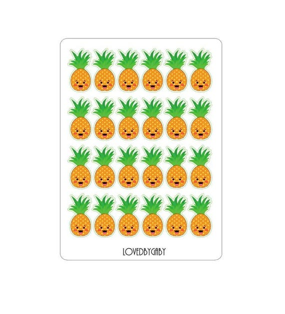 LovedbyGaby stickers pineapple or sunglasses