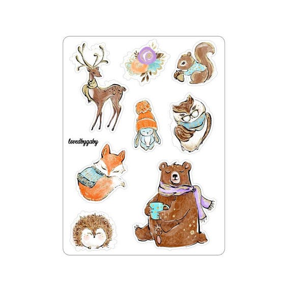 "LovedbyGaby stickers ""Woodland"""