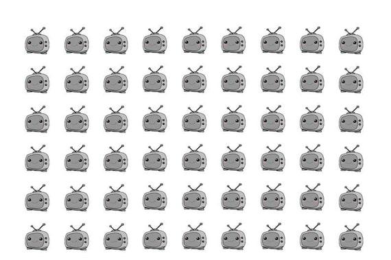 117 TV stickers