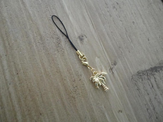 "Charm ""gold palm tree"""