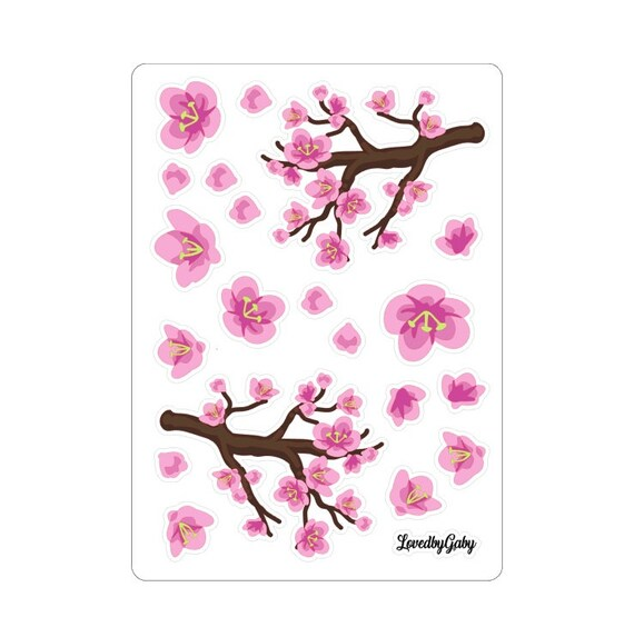 """LovedbyGaby stickers """"blossoms"""""""