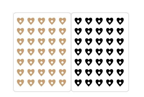 Reinforcement stickers hearts