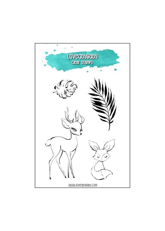 """LovedbyGaby clear stamps """"Deer"""""""