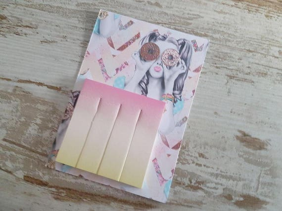 Sticky pageflags ombre yellow/pink